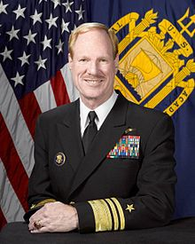 US Navy Rear Adm Michael Miller